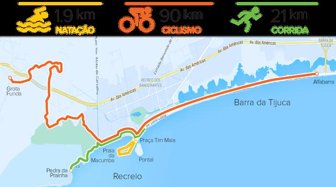 euatleta mapa Ironman 70.3 (Foto: Eu Atleta)
