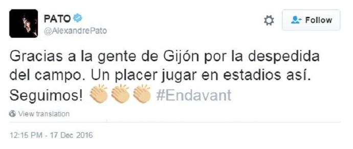 Alexandre Pato, Twitter (Foto: Twitter / @AlexandrePato)