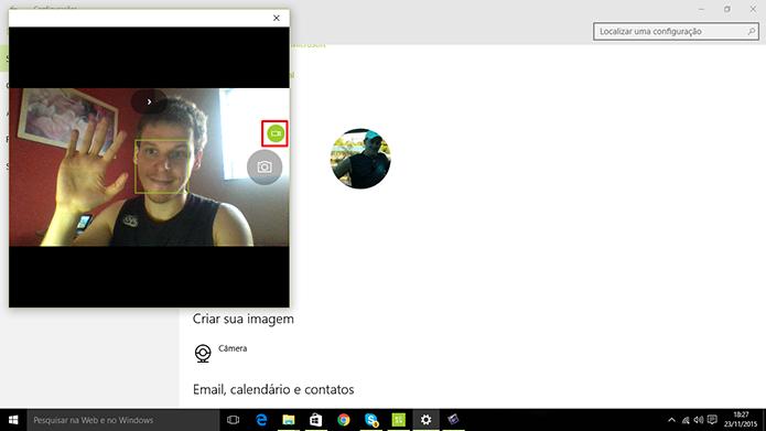 Windows 10 tem aplicativo de câmera que fará gravação de vídeo para tela de login (Foto: Reprodução/Elson de Souza)