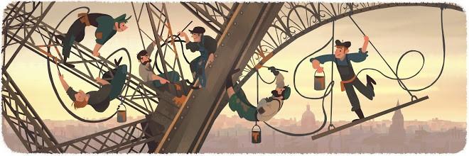 2-doodle-google-126-aniversario-abertura-da-torre-eiffel (Foto: Reprodução/Google)