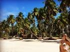 Ex-BBB Tatiele Polyana posa de biquíni do Brasil: 'Paraíso'