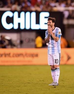 Messi Argentina x Chile (Foto: AFP)