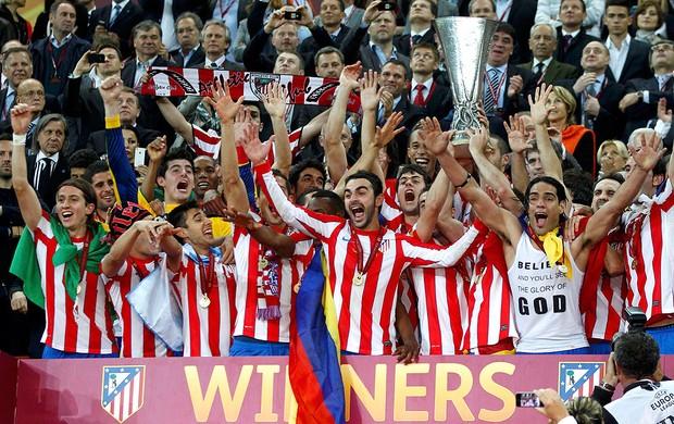 Taça, Atlético de Madrid campeão da Liga Europa (Foto: Reuters)