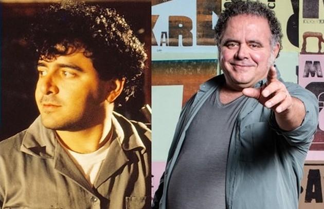 Leo Jaime era Zezinho, marido de Ana. Hoje, ele apresenta o 'Papo de segunda', no GNT, e o 'Papo de almoço', na Rádio Globo. Sua última novela foi 'Novo Mundo' (Foto: Reprodução)