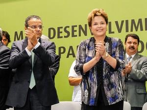 Dilma Rousseff participa de evento em Natal ao lado do presidente da Câmara, Henrique Eduardo Alves (Foto: Roberto Stuckert Filho/PR)