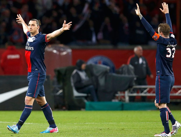 Ibrahimovic Beckham PSG Brest (Foto: Agência Reuters)