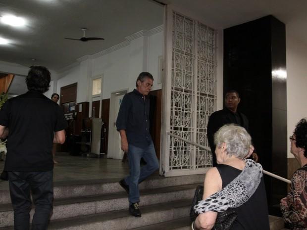 Chico Buarque no velório de Susana Moraes na Zona Sul do Rio (Foto: Foto Rio News)