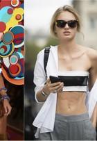 Top Romee Strijd aparece bem mais magra na semana de moda de Paris