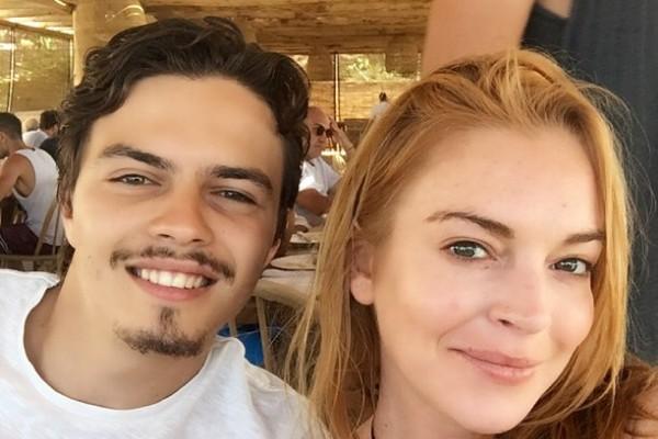 A atriz Lindsay Lohan e seu ex-noivo, o empresário Egor Tarabasov (Foto: Instagram)