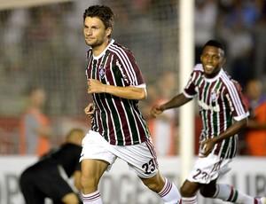 Rafael Sobis gol Fluminense Huachipato (Foto: AFP)