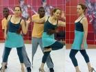Preocupada em acertar tudinho, Bia Seidl tem ensaio puxado no 'Dança'