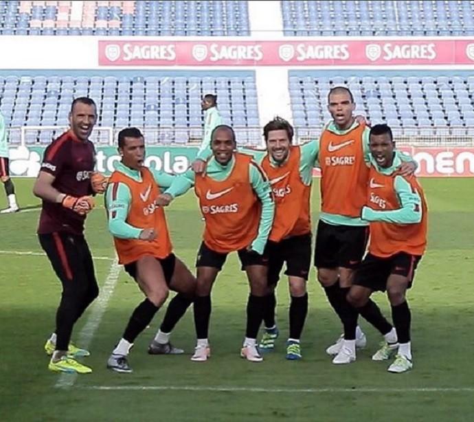 Cristiano Ronaldo animado treino Portugal (Foto: Reprodução Instagram)