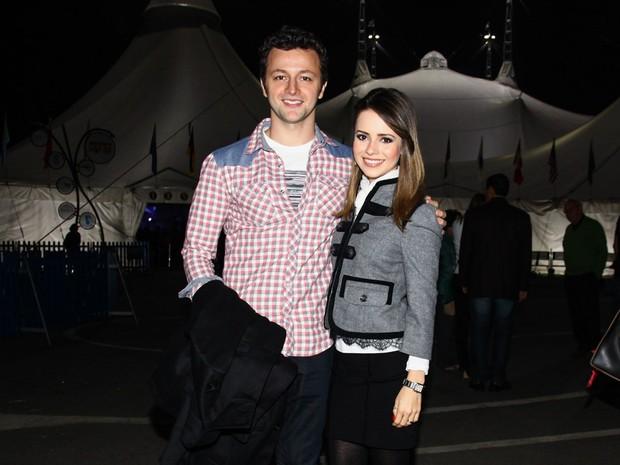 Sandy com o marido, Lucas Lima, em show em São Paulo (Foto: Manuela Scarpa/ Foto Rio News)