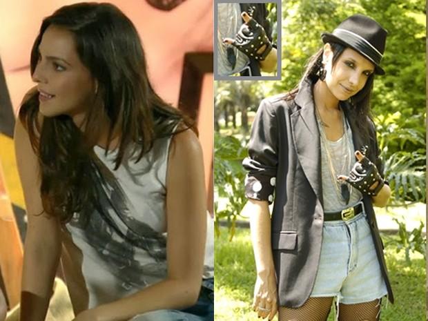 Marina tinha uma queda pelo look, enquanto Inês só adotava esse estilo (Foto: Divulgação/Gshow/TV Globo)