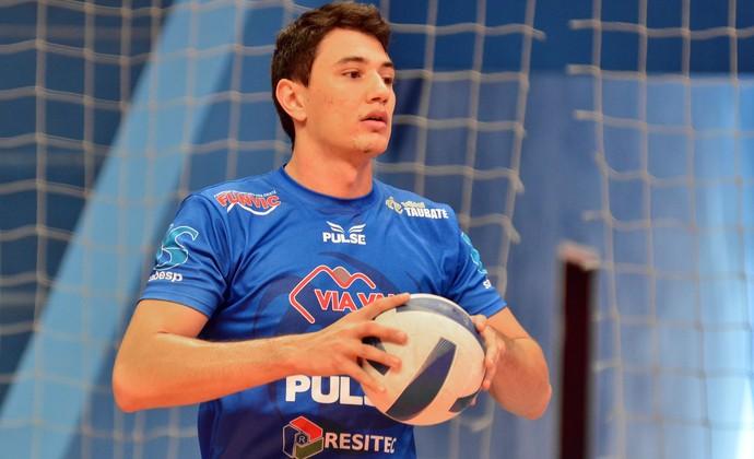 Levantador Pedro Vôlei Taubaté (Foto: Jonas Barbetta/ Tuddo Comunicação)