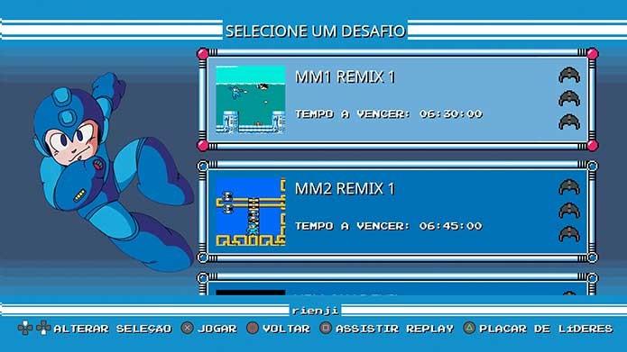 Há ainda desafios e extras em Mega Man Legacy Collection (Foto: Reprodução/Felipe Vinha)
