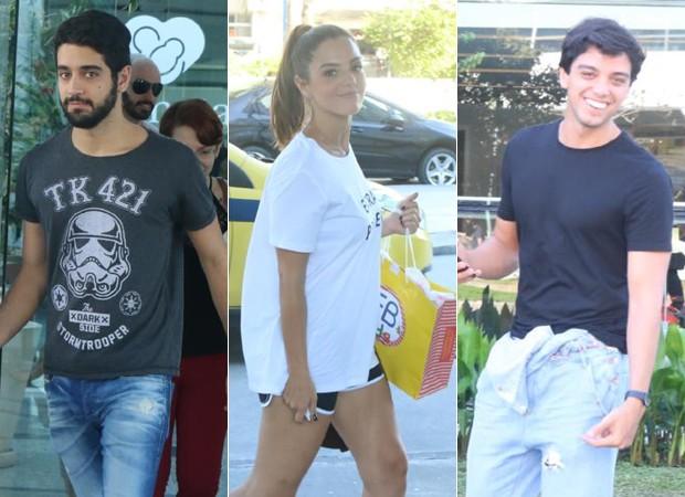 Miguel Rômulo, Giovanna Lancellotti e Rodrigo Simas (Foto: Daniel Pinheiro/AgNews )