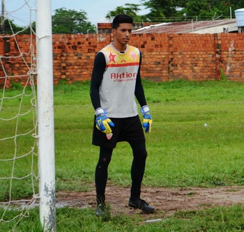 Thiago, goleiro do Rio Branco-AC Sub-20 (Foto: Duaine Rodrigues)