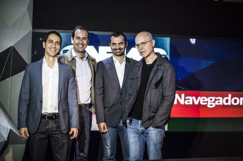 Ronaldo Lemos, José Marcelo Zacchi, Alexandre Youssef e Hermano Vianna  (Foto: Globo / João Cotta)