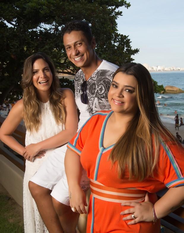 Carol Sampaio, MC Leozinho e Preta Gil: funk vai invadir o evento com a festa Baile da Favorita da promoter e empresária carioca (Foto: Divulgação/Marcos Hermes)