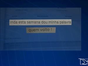 Detento prometeu a diretor que voltaria à Casa de Detenção (Foto: Reprodução/TV Mirante)