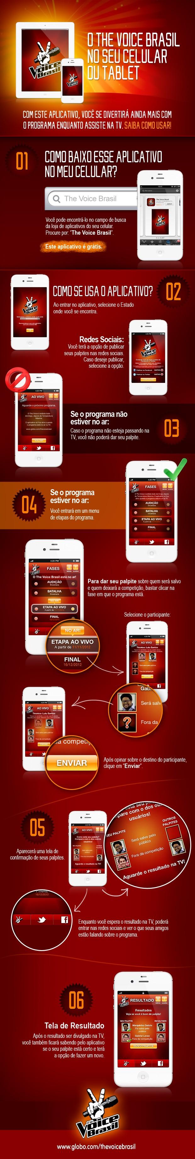 aplicativo segunda tela the voice (Foto: The Voice Brasil/TV Globo)