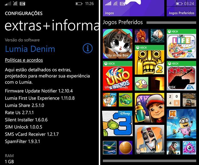 Lumia Denim será exibido nas configurações do aparelho após a instalação e trará pastas para o sistema (Foto: Reprodução/Elson de Souza)