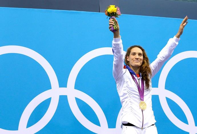 Camille Muffat natação (Foto: Agência AP )