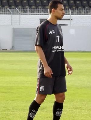 Wendel Santana, em treinamento na Ponte Preta (Foto: Thiago Toledo/ PontePress)