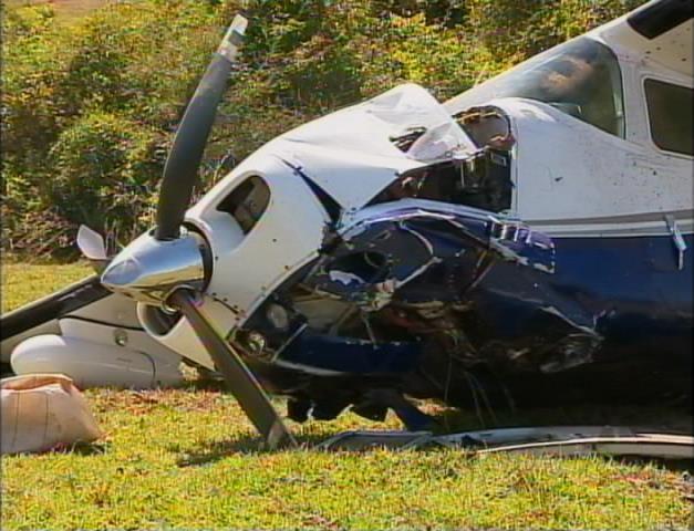 Avião fez pouso forçado em um sítio em Lucélia (Foto: Reprodução/TV Fronteira)