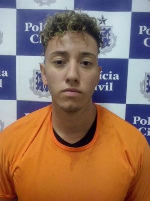 Gabriel, que namorava a vítima, teria armado o crime, segundo a polícia (Foto: Divulgação/Polícia Civil)