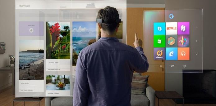 Asus pode desenvolver headsets de realidade aumentada compatíveis com o HoloLens da Microsoft (Foto: Divulgação/Microsoft) (Foto: Asus pode desenvolver headsets de realidade aumentada compatíveis com o HoloLens da Microsoft (Foto: Divulgação/Microsoft))