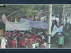 Alunos fazem ato contra mudanças na rede estadual no Centro de Campinas
