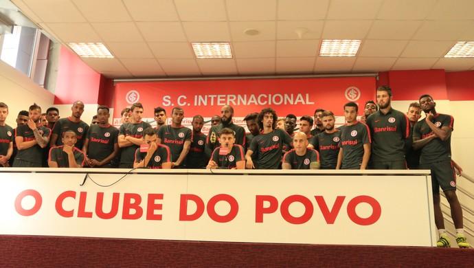 Internacional Inter elenco manifestação Inter manifestação (Foto: Tomás Hammes/GloboEsporte.com)