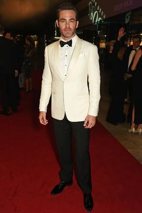 Chris Pine em premiação em Londres, na Inglaterra (Foto: David M. Benett/ Getty Images)