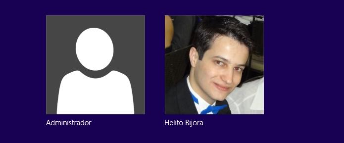 Faça login pela conta Administrador (Foto: Reprodução/Helito Bijora)