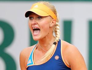 Kristina Mladenovic tênis em Roland Garros (Foto: Reuters)