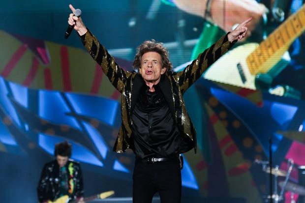 Mick Jagger em show em São Paulo (Foto: Manuela Scarpa/ Brazil News)