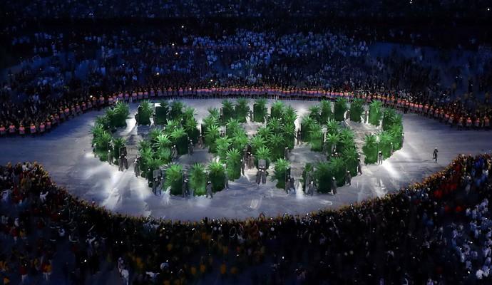Cerimônia de abertura Olimpíada (Foto: Reuters)