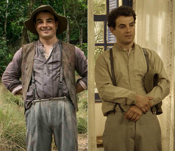 Antes e depois: Zé dos Porcos vai surgir limpinho nos próximos capítulos (Foto: Inácio Moraes/Gshow/TV Globo)