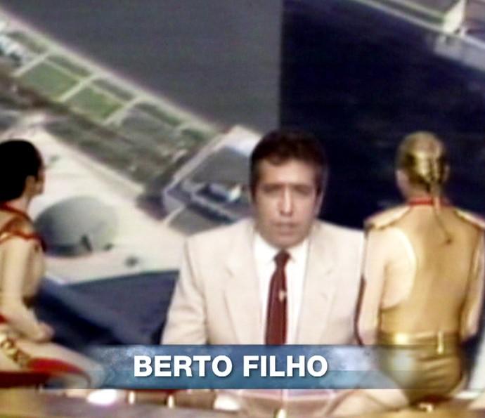 Berto também recebeu homenagem (Foto: TV Globo)