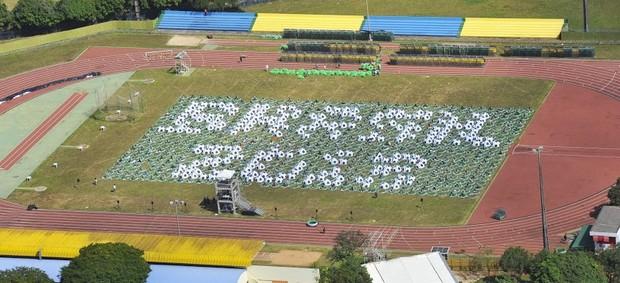 ensaio abertura Copa das Confederações - Brasília (Foto: Brito Junior / Divulgação)