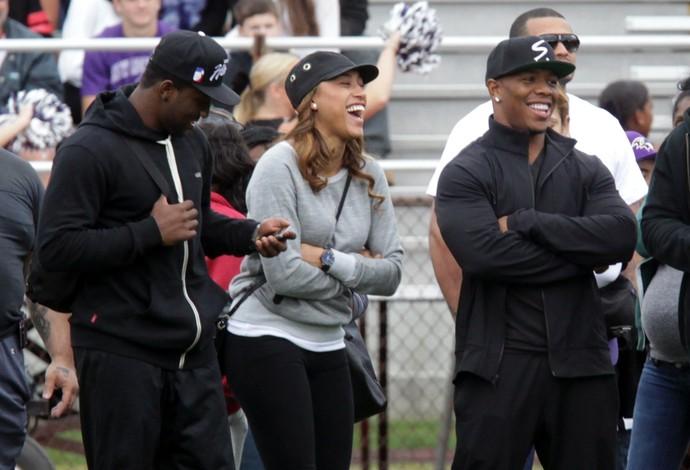 Ray Rice com a esposa mlb (Foto: Reuters)