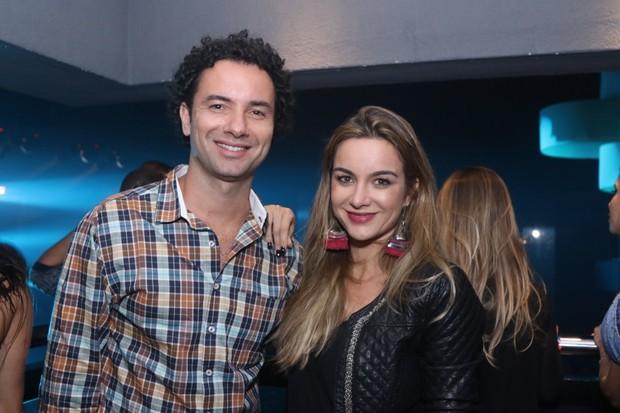 Marco Luque com a mulher, Flávia (Foto: Thiago Duran/AgNews)