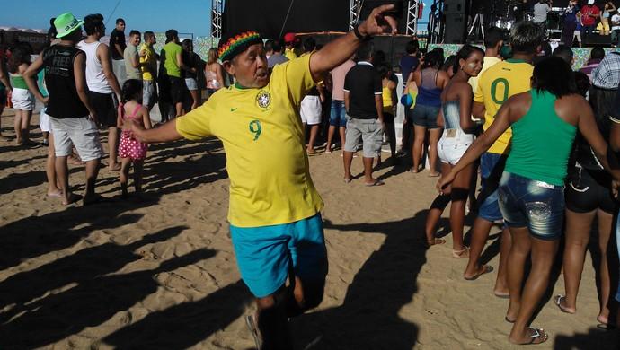 Copa das Confederações Fortaleza Aterro Praia de Iracema (Foto: Juscelino Filho)