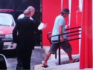 Roy foi detido e levado para a delegacia de Itu (Foto: Fernando Campos/Jornal Periscópio)