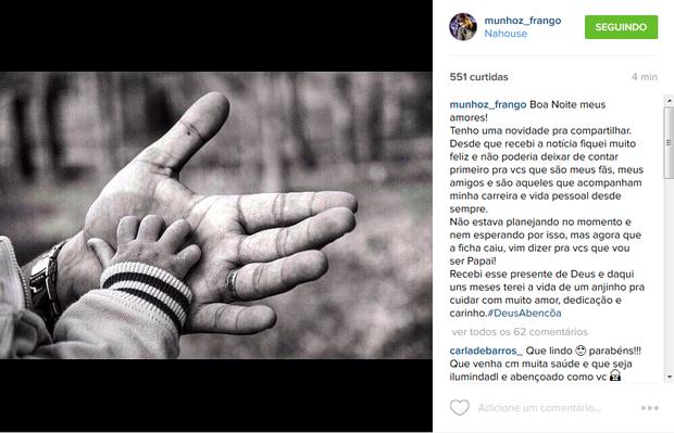 Munhoz (Foto: Instagram / Reprodução)