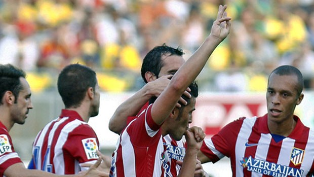 David Villa pelo Atlético de Madrid (Foto: Site Oficial do Atlético de Madrid)
