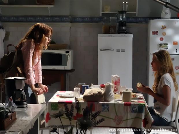 Anita pergunta a Sofia aonde tá a grana do garage sale para entregar a Ben (Foto: Malhação/ TV Globo)