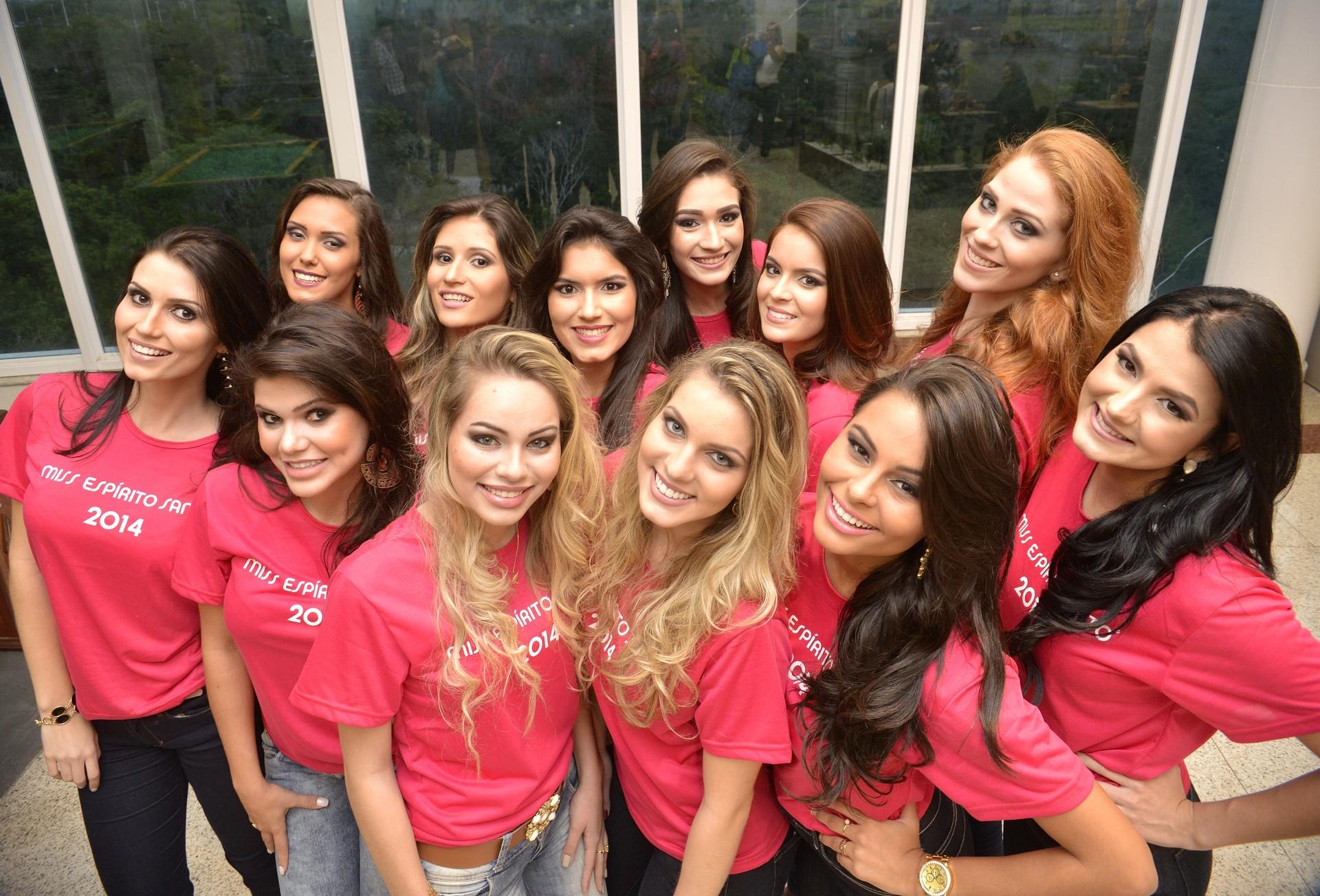 Finalistas do concurso de beleza Miss Espírito Santo 2014 (Foto: Edson Chagas/Jornal A Gazeta)